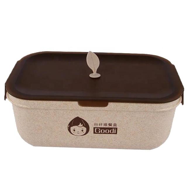 Gute preis hohe qualität weizen stroh schule mittagessen box reusable lebensmittel container pp kunststoff Mit Günstige Preise
