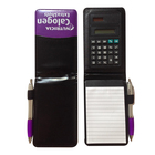 pocket leather notepad with calculator