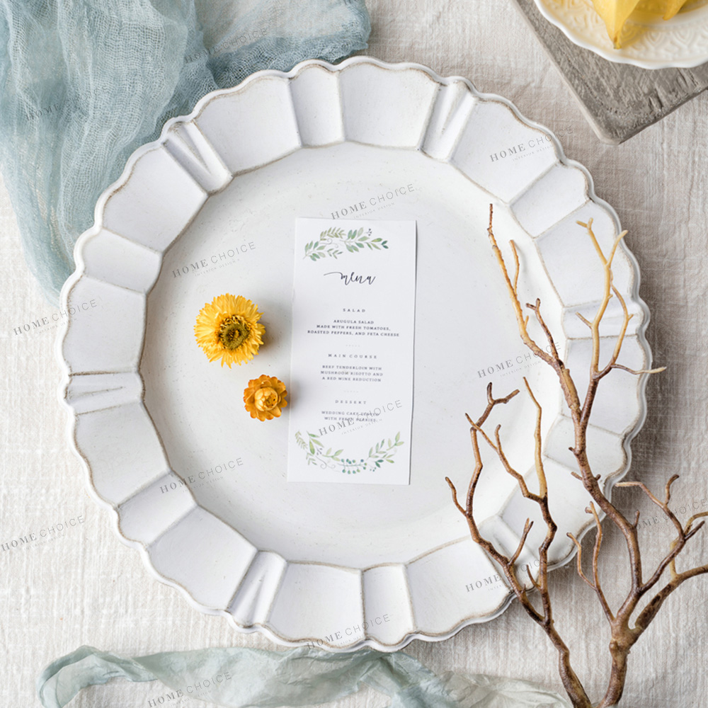 Wholesale Flower Shaped Decorative Dinner <strong>Plates</strong> For Wedding
