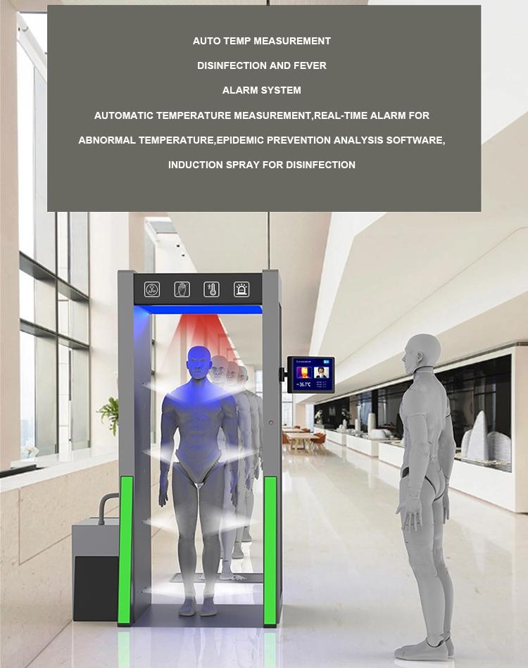 Mall ฆ่าเชื้อ Entrance Gate หมอกอุโมงค์ประตู fogger sprayer สำหรับฆ่าเชื้อช่องประตู