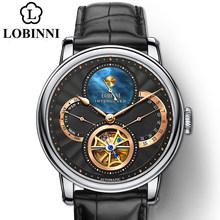 Мужские наручные часы LOBINNI, наручные часы с римским циферблатом, 2019(Китай)