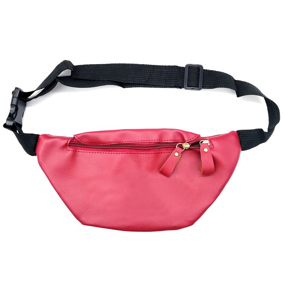 2020 Simple Design Zipper Waterproof Bum Bag Belt Genuine Leather Custom Fanny Packs Waist Bag for Female