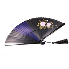 Modern art and craft bamboo fan hand held fan gift for business partner and friend