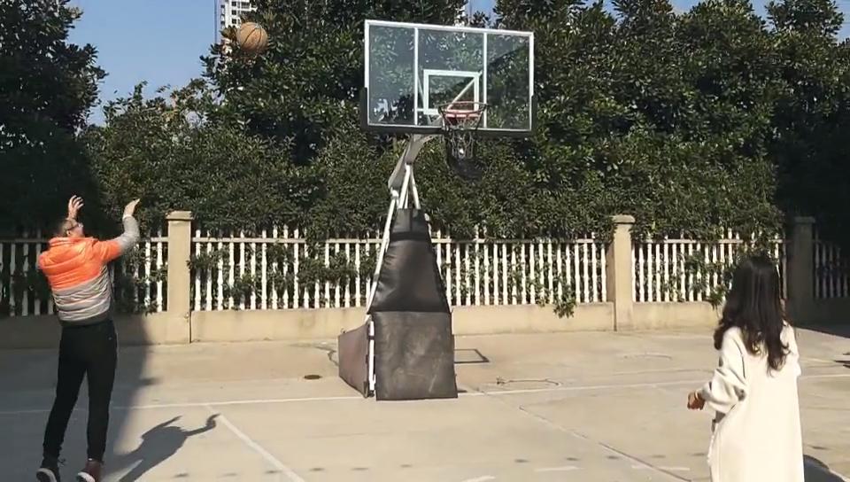 A-G2L Профессиональный 2,45 м до 3,05 м с регулировкой по высоте передвижной надувные стали взрослых баскетбольный стенд обруча системы с металлическим основанием