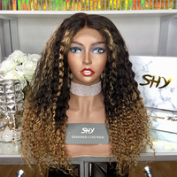 Wholesale colorful 100 brazilian human curly remy real hair wigs small cap size