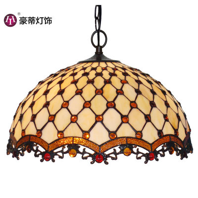 2020 Wholesale Tifany Lamps Tiffany Pendant Handmade Tifany Stained Glass Chandelier for Home&Restaurant Decor