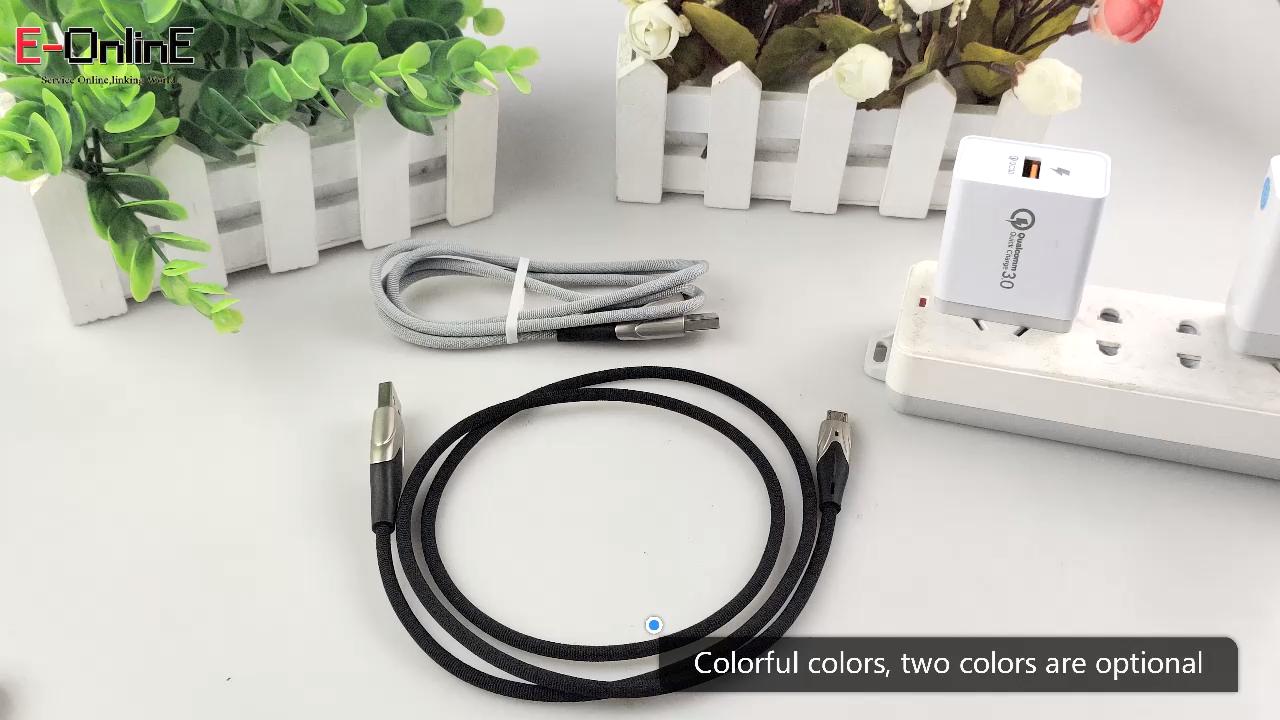 EONLIN 1M 2M 3M USB סוג C כבל עבור xiaomi USB C אבץ סגסוגת נייד טלפון כבל מהיר טעינת סוג C כבל עבור USB סוג-C