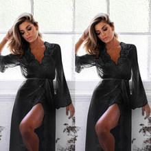 Женская ночная рубашка, кружевное платье, ночная рубашка, сексуальное ночное белье, женская одежда, халат, femme, домашняя одежда, Женское ночн...(Китай)