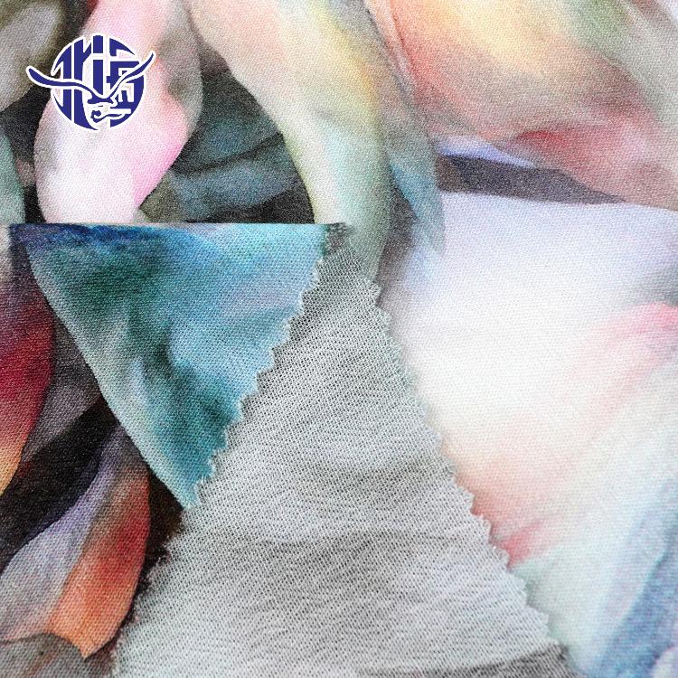 Özelleştirilmiş tasarım çiçek dijital baskılı dimi viskon rayon kumaş