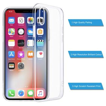 "For iPhone X Case, Slim Clear Soft TPU Cover Support Wireless Charging for Apple 5.8"" iPhone X /iPhone 11proshockproof"