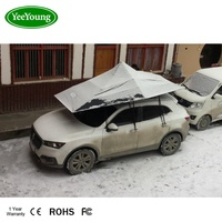 Pyramid design automatic car top snow protection car cover umbrella prevent snow stacking