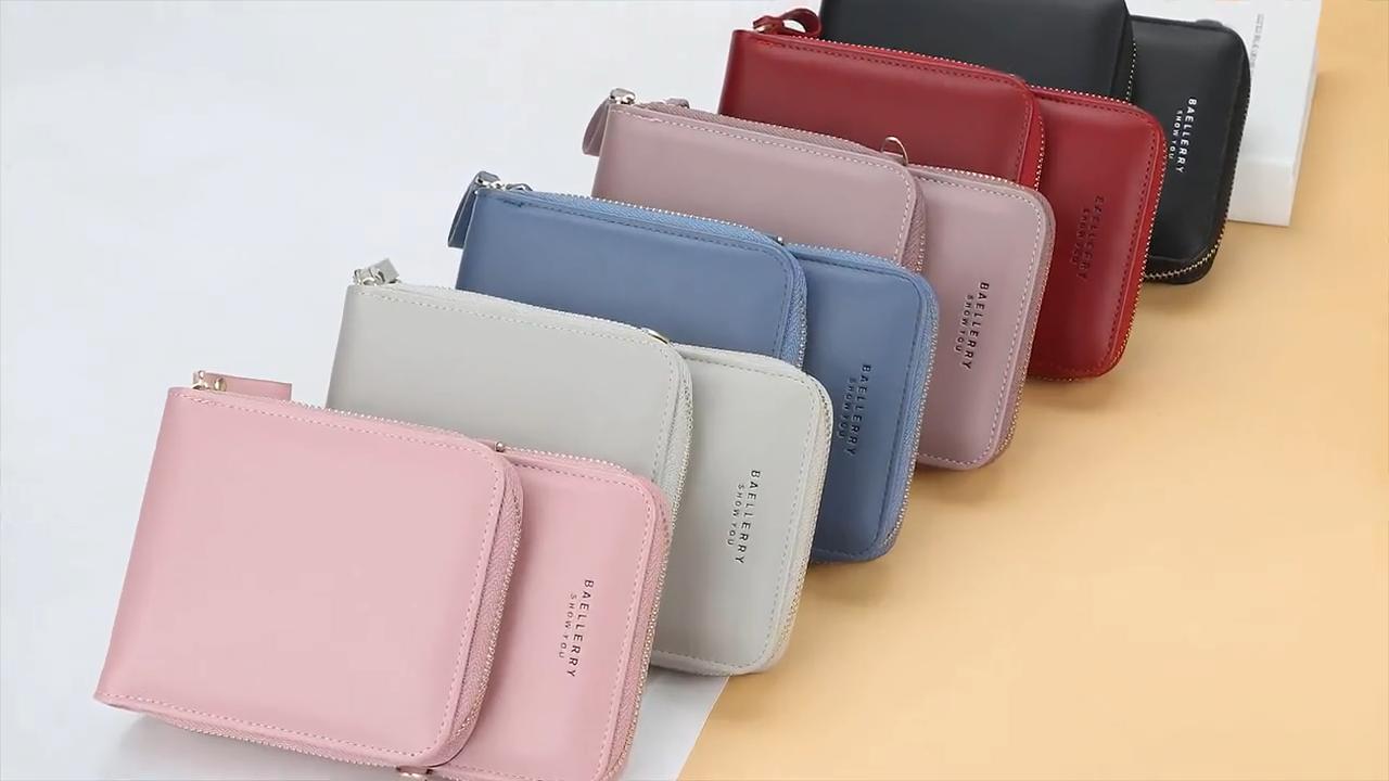 Сумка Baellerry для женщин, вместительный мессенджер на одно плечо, модный длинный бумажник на молнии для мобильного телефона