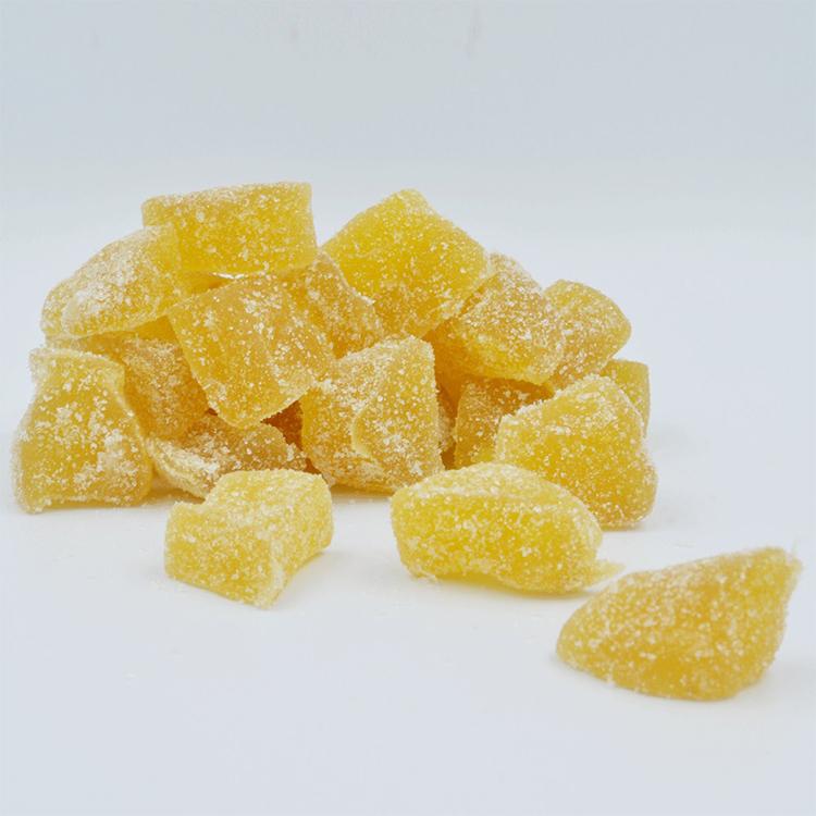 18-33Mm Gekristalliseerd Gember Brokken Met Castor Suiker Gedroogd Geconserveerd Gember