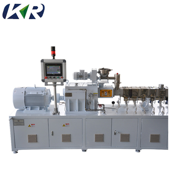 Plastic Twin mini extruder/TPE/TPR/TPU plastic pellets machine/tweelingschroefextruder in korrel