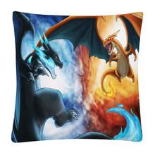 Мягкий короткий плюшевый чехол для подушки Pokemon Fire Dragon, наволочка для дома, дивана, автомобиля, наволочка 45X45cm(Китай)