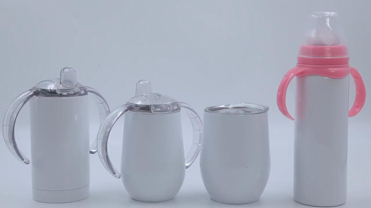 De grado de alimentos de doble pared de aislamiento de vacío botella de agua de acero inoxidable 304 bebé botella de alimentación