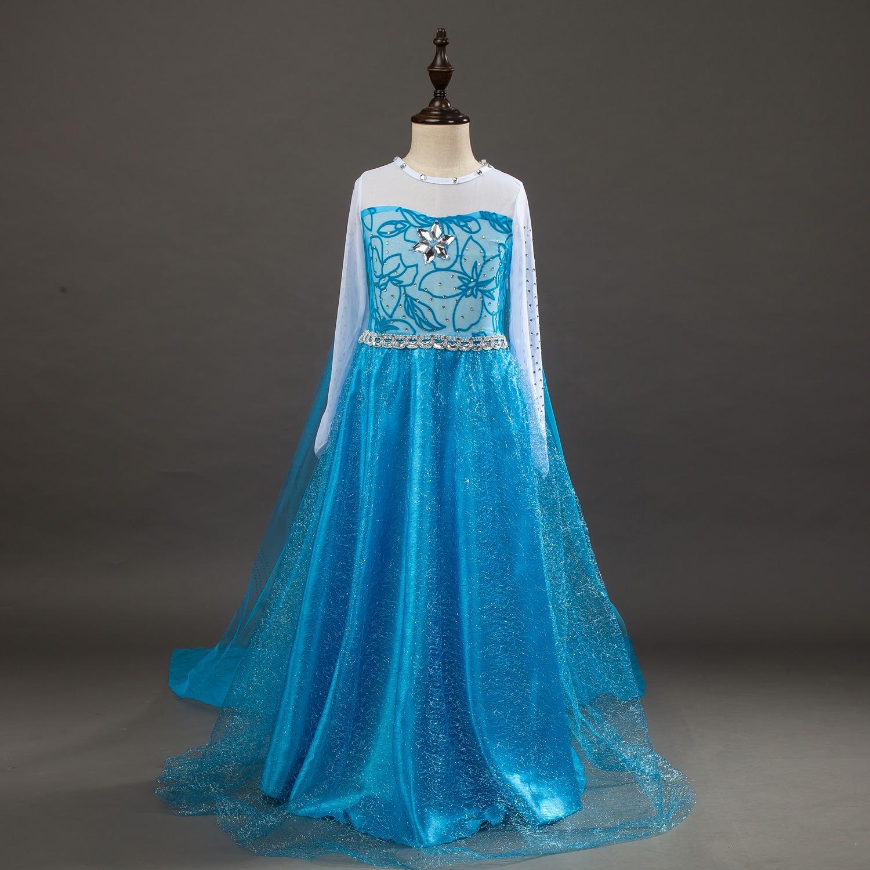 Cosplay Costume di Halloween Del Partito Dei Capretti Della Principessa Congelati Elsa E Anna Costume Dress Up Con Accessori