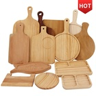 Cheap Nordic Restaurant Kitchen Dessert Cake Sushi Plates Bamboo Wooden Kid Baby Dinner Plates Sets