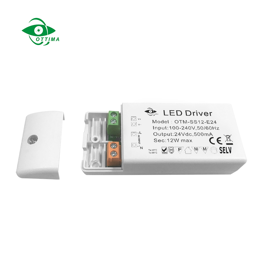 Shenzhen Ottima 24v 12w power supply constant voltage small size led driver for strip light
