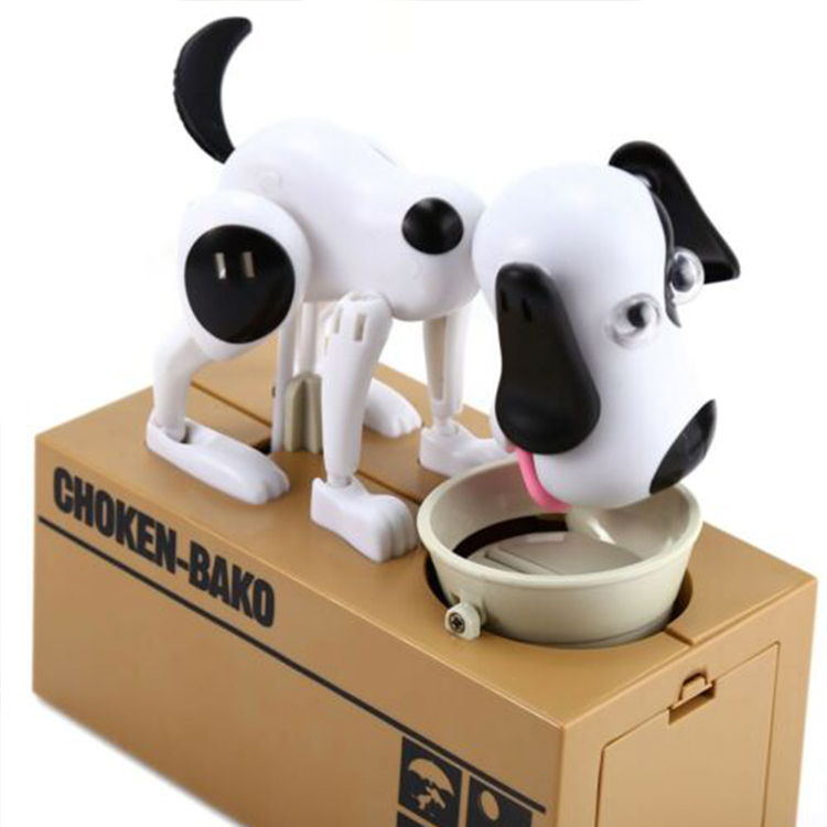 Wholesales Puppy Bank Money Saving Box, Creative Gift Cute Vinyl Dog Model Coin Box