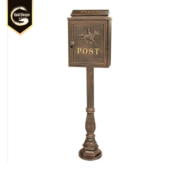 Vintage Waterproof Free Standing Letter box Paper Post Mailbox Lock