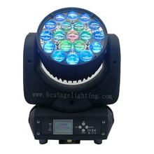 Led 줌 밤 club dj stage 빛 19x15 와트 4in1 rgbw LCD display wash moving head