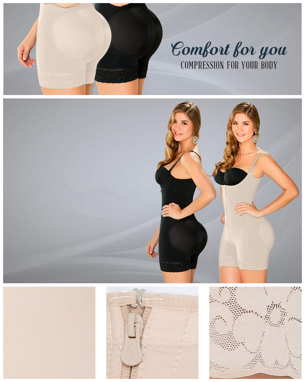 Mulheres Fajas Colombianas Bodysuit Shapewear Tanga Cinto Aberto Busto Firme Controle Shaper Do Corpo