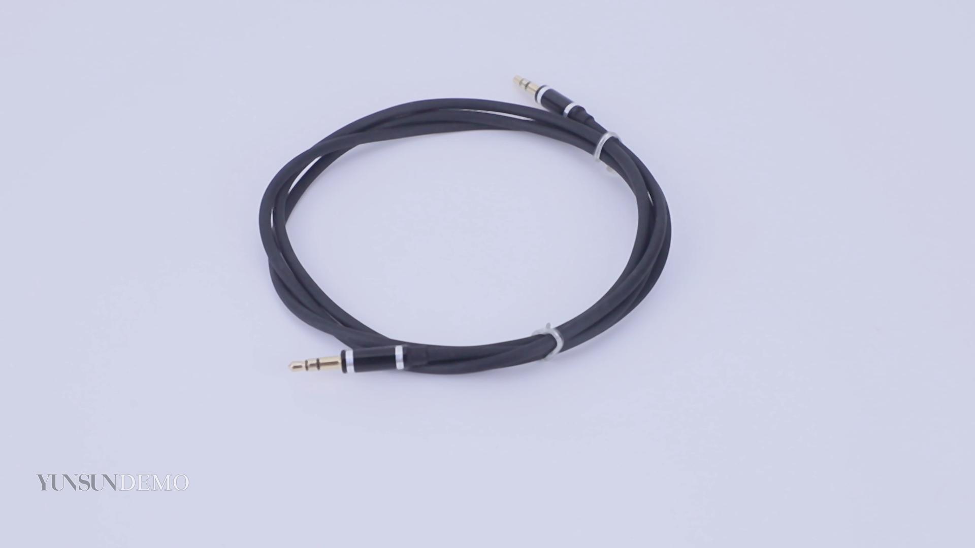 Cantell הנמכר ביותר 1m 2m 3m זכר לזכר Aux כבל אוזניות auxiliar כבל 3.5mm aux אודיו כבל