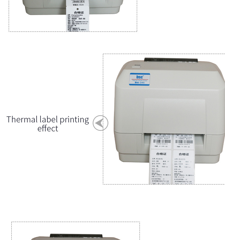Alta Eficiência da Máquina de Impressão de Etiquetas Etiqueta Autocolante a4 Impressora Térmica De Código de Barras personalizado WIFI Bluetooth