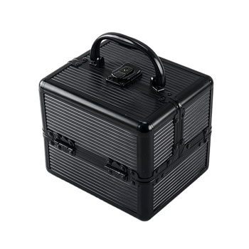 Aluminum makeup vanity beauty box cosmetic portable case