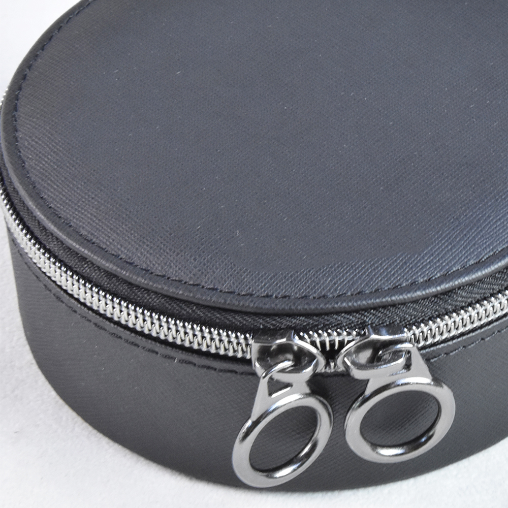 white custom wedding ring earing  velvet  pu leather box  jewellery organizer case  Jewelry box