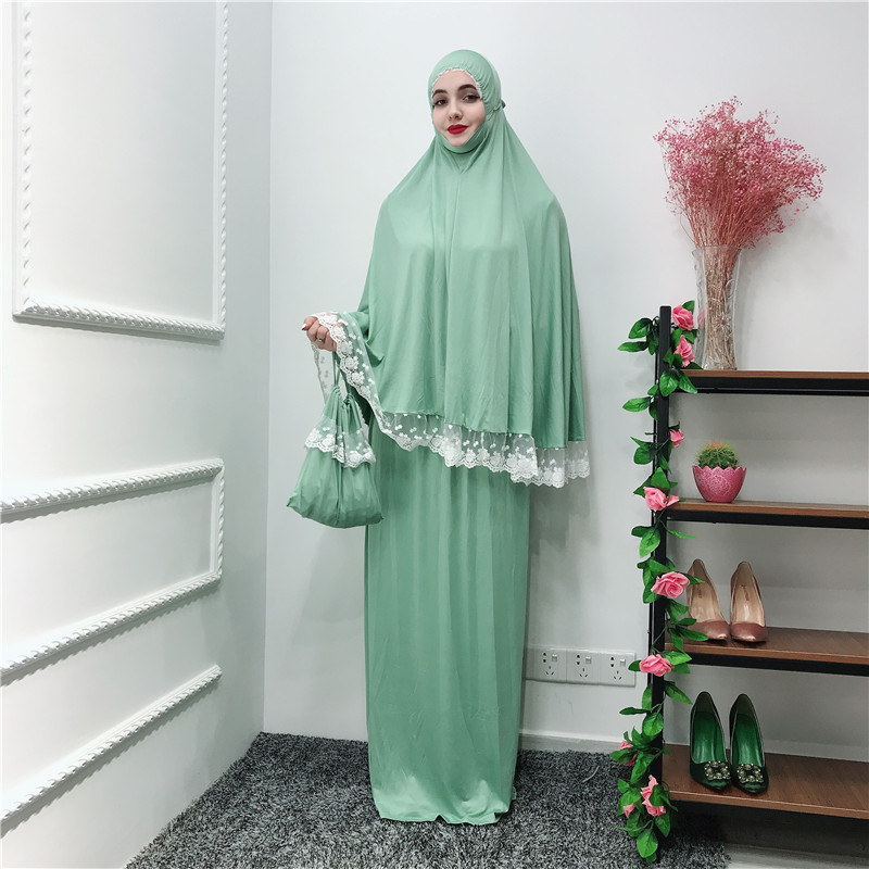 Wholesale dress skirt-set abaya long hijab khimar islamic muslim prayer dress