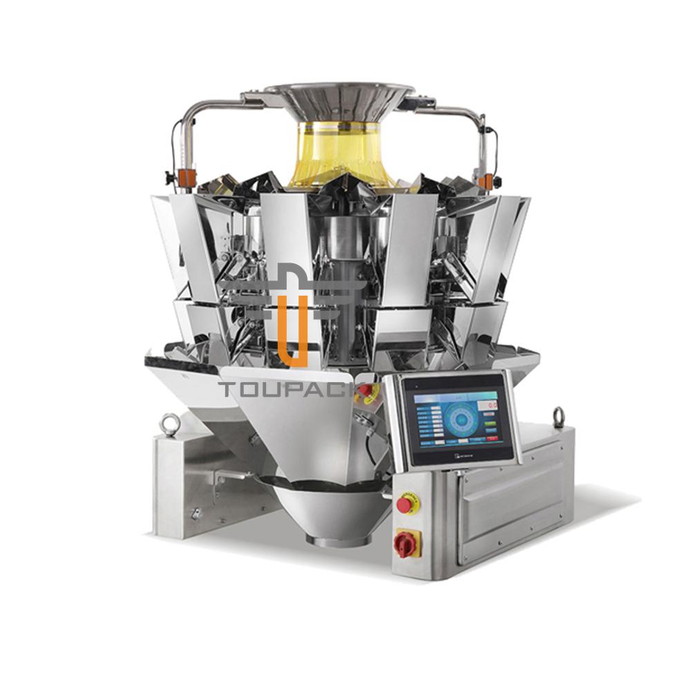 10 head PLC multihead weigher for Milk powder,Cheese,Tea,Mushrooms,Seeds,etc. Packing Machine