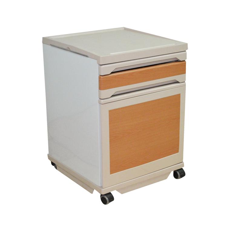 ABS medical furniture hospital bedside cabinet table for sale