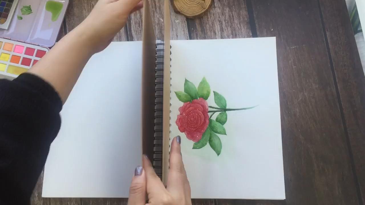 水彩スケッチブックを描くためのカスタマイズされたシングルコイルブックバインディングスパイラルノート