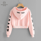 Cotton Hoodie Hoodiecotton Hoodie Cotton Wholesale Custom Casual Cotton Long Sleeve Printing Drawstring Pullover Cropped Hoodie For Women