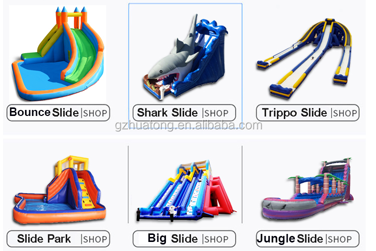 Commercial customized PVC  Inflatable water park inflatable water slide with pool for sale