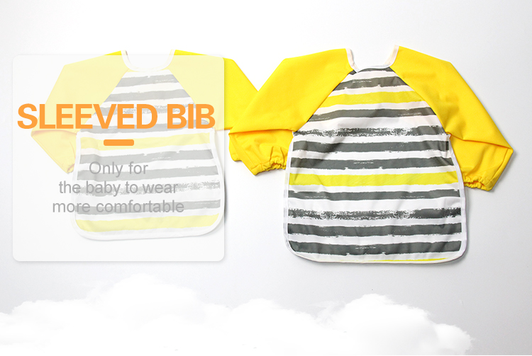Hot Selling Waterproof Long Sleeve Girl Baby Bibs