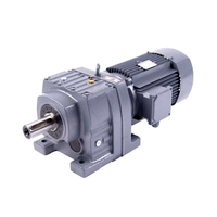 R series China Hot sale gearbox conveyor high torque helical geared motor