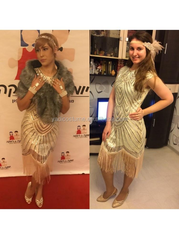 Vintage 1920s Flapper Great Gatsby Jurk O-hals Cap Sleeve Sequin Fringe Party Midi Dress Vestidos Verano MOONBUNNY Zomer Jurk