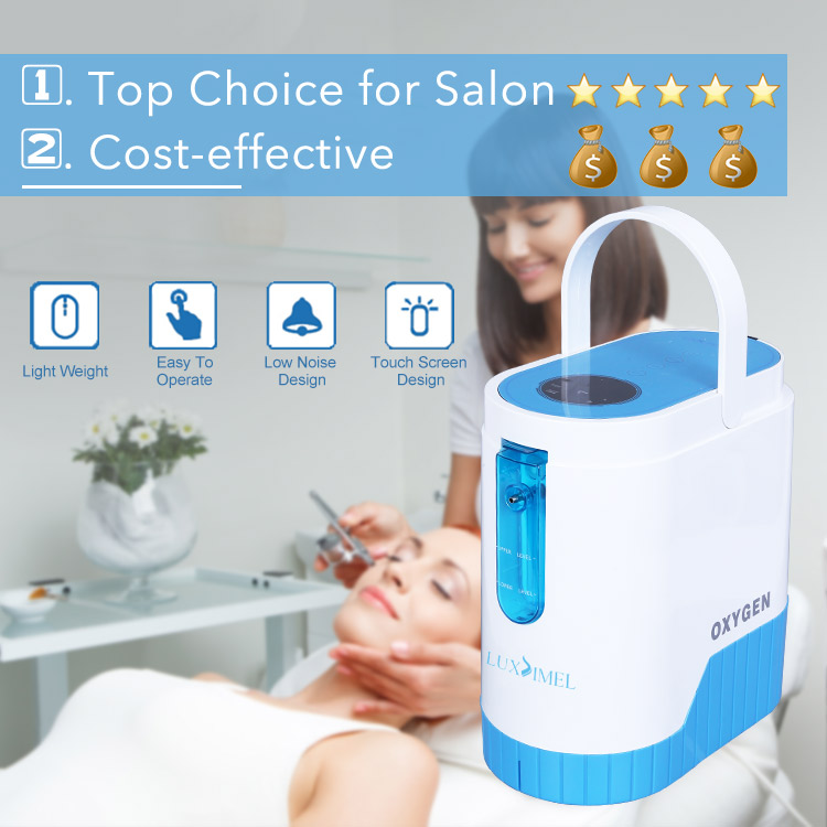 Best Salon 4 In 1 Anti-Aging Portable Injector Therapy Beauty Jet Oxygen Mask Facial Machine For Skin Care