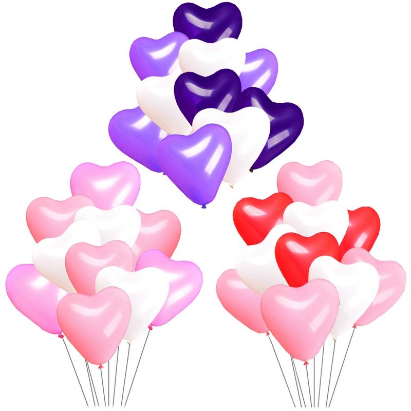10-100 globos de helio de alta calidad de Forma de Corazón para Cumpleaños Día de San Valentín Globos