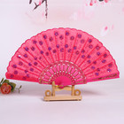 Fan Sequin Fan Best Selling Ladies Hand Fan Shine Colorful Embroidery Sequin Craft Fan Decorative Folding Hand Fan