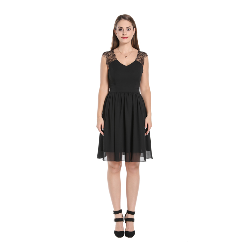 Eyelash <strong>Lace</strong> Backless Black Chiffon Elegant Party Pleated A Line Casual <strong>Skater</strong> Women Wedding Kitenge Designs <strong>Lace</strong> <strong>Dress</strong> Ladies
