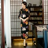 Chinese Morden fashion long length Cheongsam Elegant half sleeve slim Qipao lace fabrics Dress For Women's Wedding Party