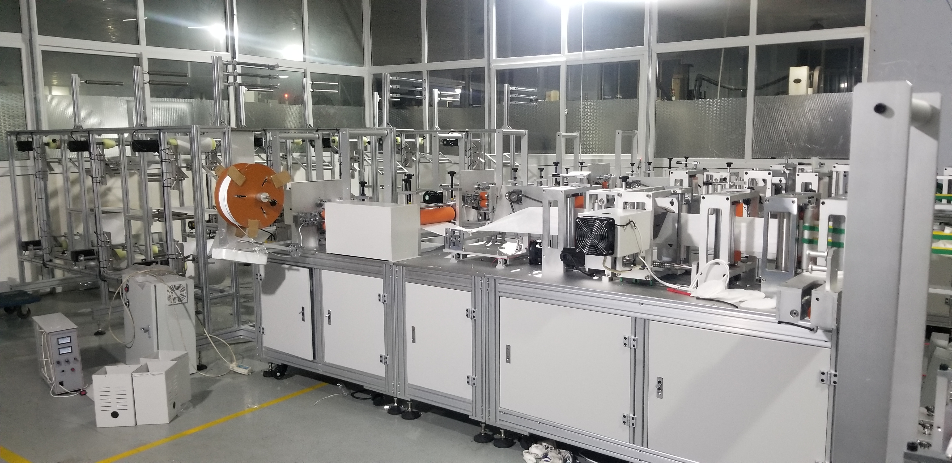 Fully automatic 3ply surgical making face machinery