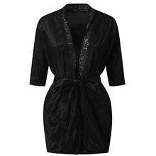 Ночная рубашка MIARHB, Сексуальная кружевная ночная рубашка с v-образным вырезом, модное нижнее белье без рукавов(Китай)