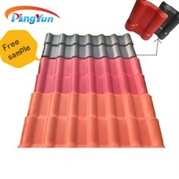 lightweight plastic roofing material/ASA PVC roof tile/Teja colonial Spanish roof sheet