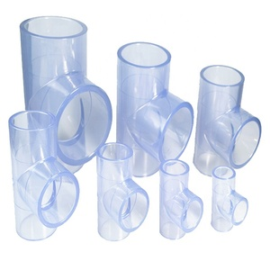 160MM Large Diameter Transparent PVC Pipe Tube Rigid Fitting Elbow
