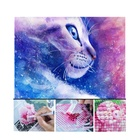 Cute Cat Dog Diamond Painting Kit Full Drill DIY Rhinestone Embroidery Cross Stitch Arts Craft for Home Decor